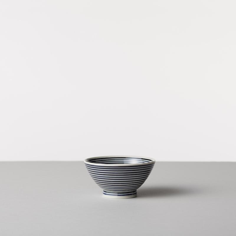 藍駒 茶碗 大