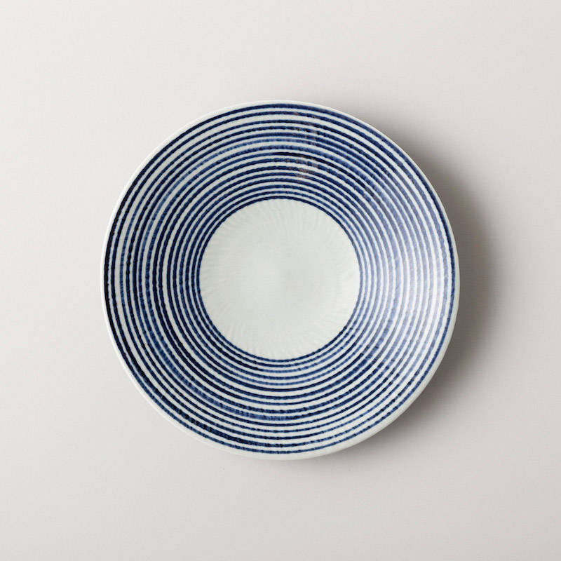藍駒 大皿
