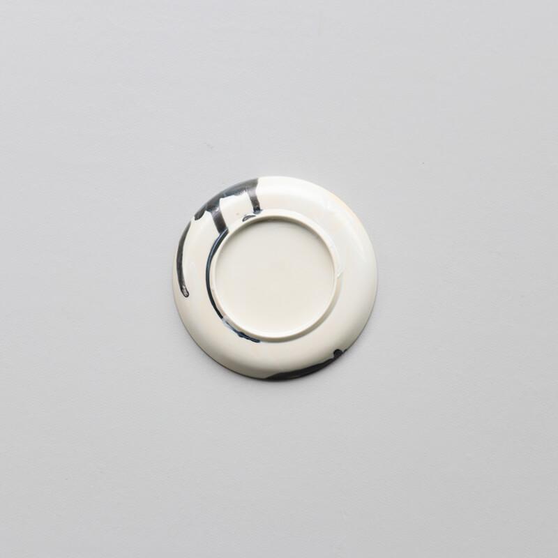 白磁杓掛け 3寸皿