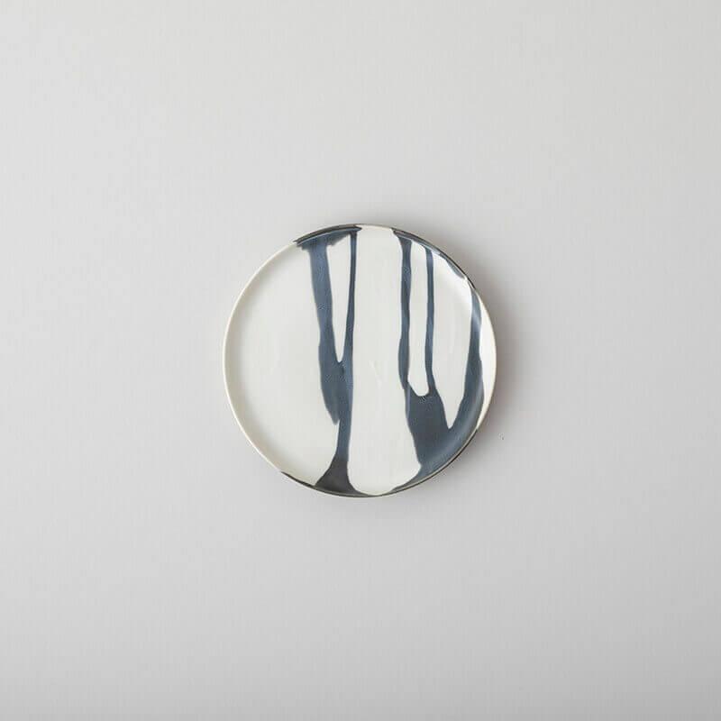 白磁杓掛け 5寸皿