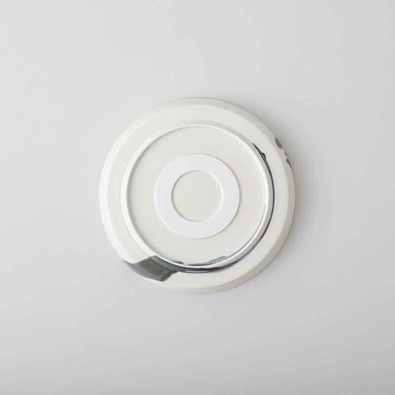 白磁杓掛け 平鉢 大