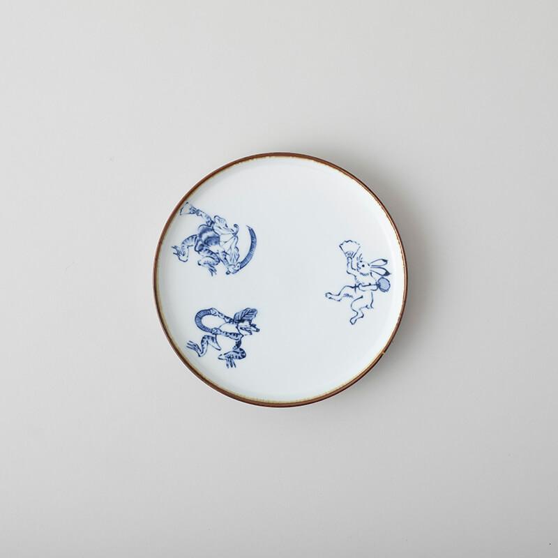 鳥獣戯画 6寸皿