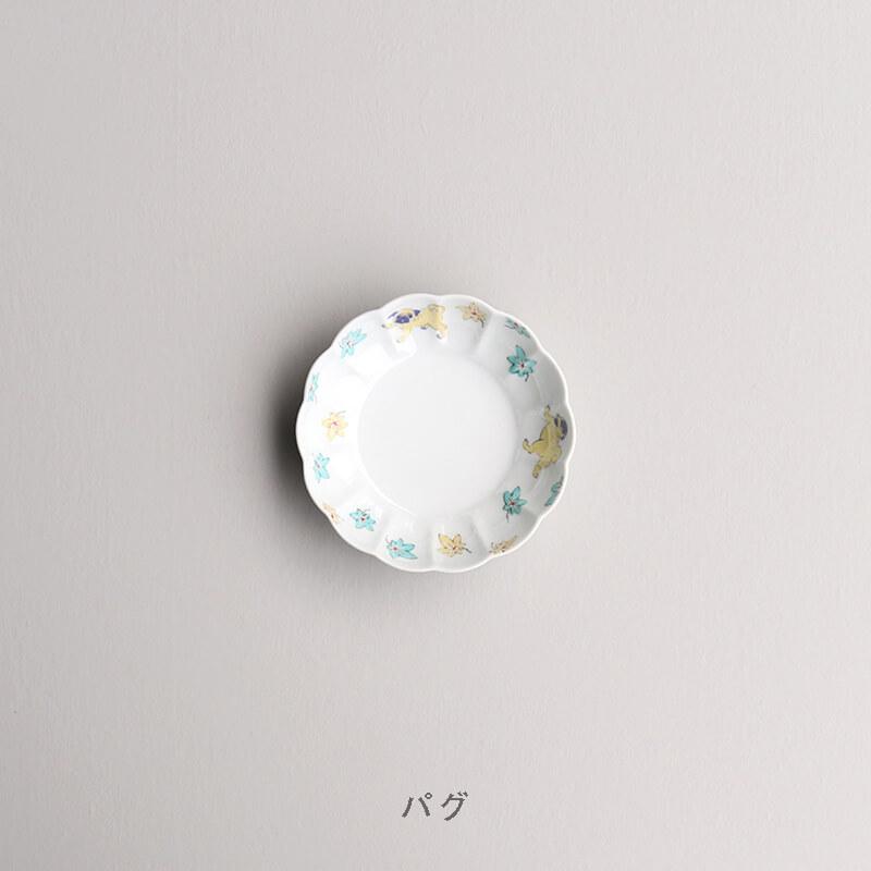 【ストア限定】 色絵 菊形鉢 中(2枚) & 桐箱セット