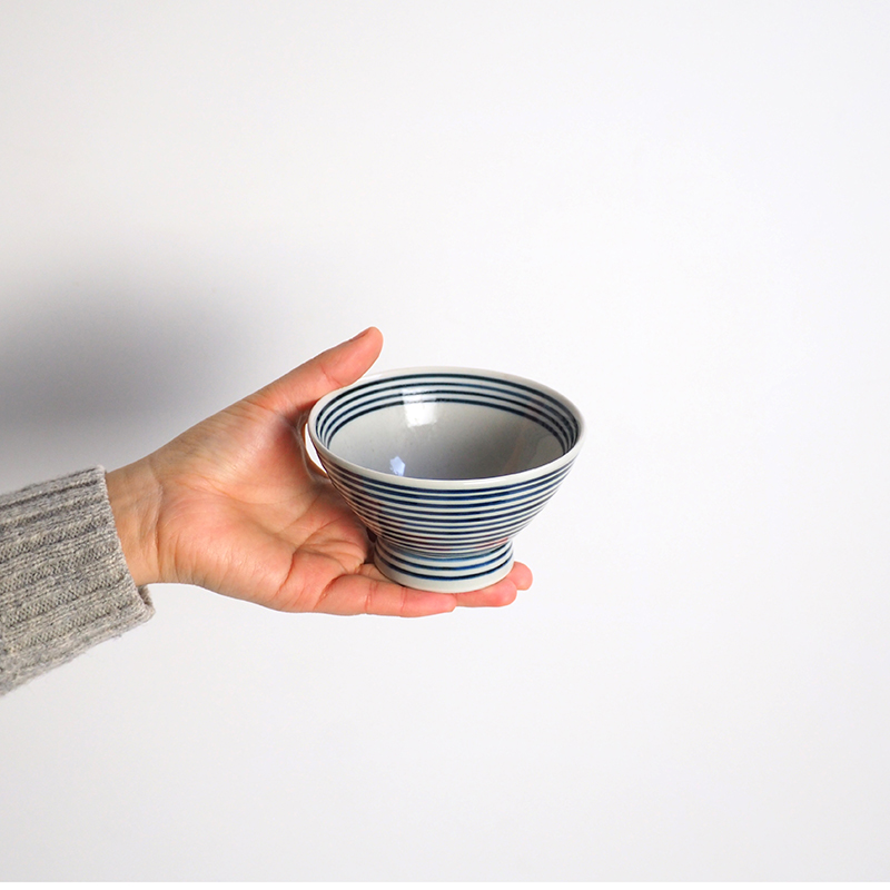 藍駒 茶碗 小