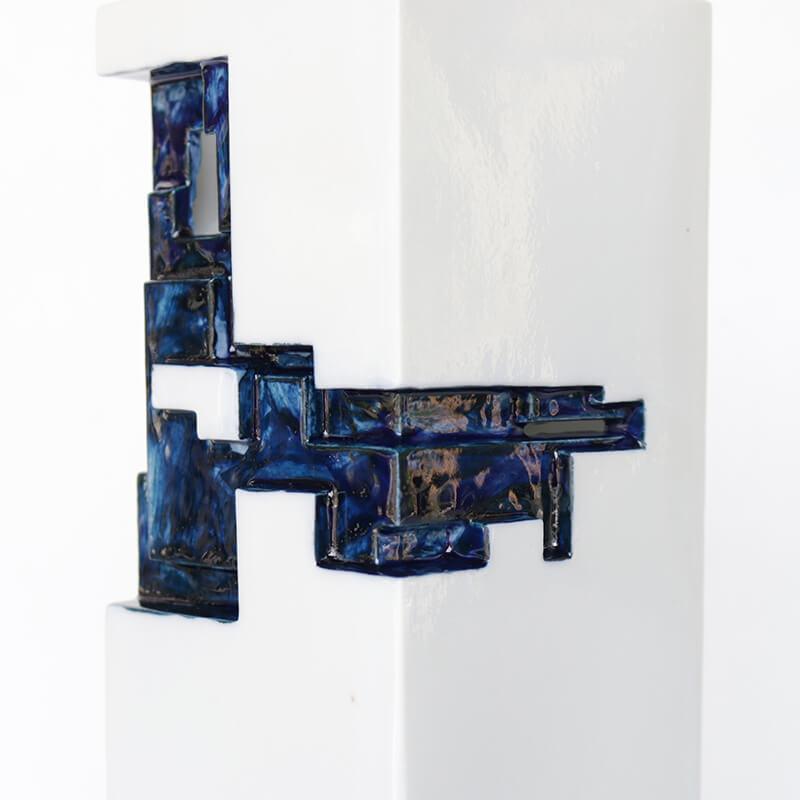 【限定生産】 ArtWork Blue & White VASE 濃呉須