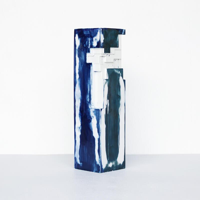 【限定生産】 ArtWork Blue & White VASE 刷毛呉須