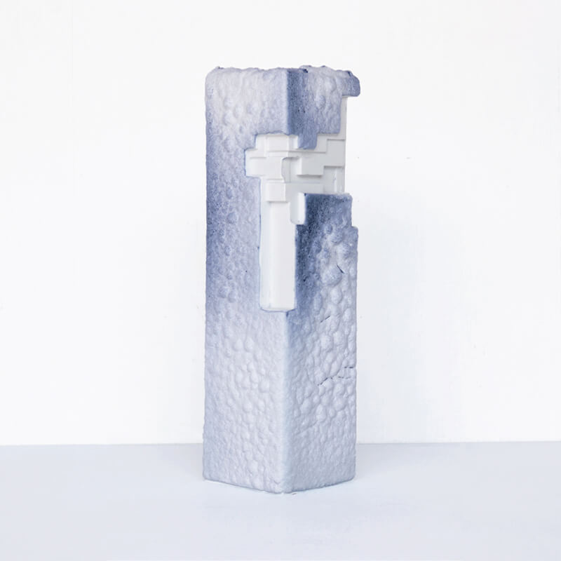 【限定生産】 ArtWork Blue & White VASE 青溶岩