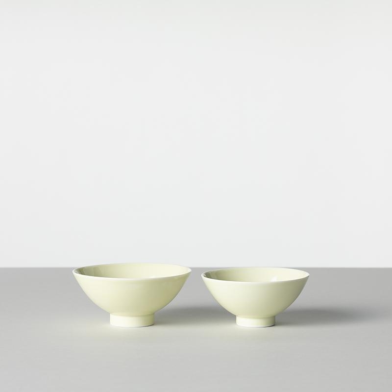 色釉/白淡 茶碗 小