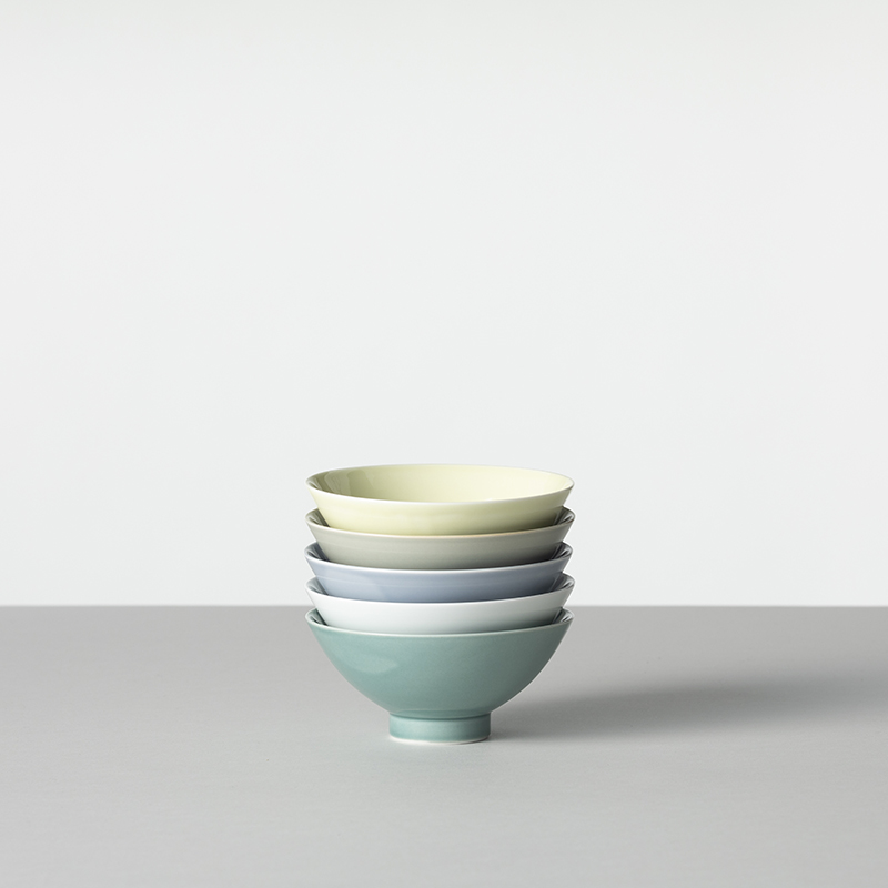 色釉/白淡 茶碗 大