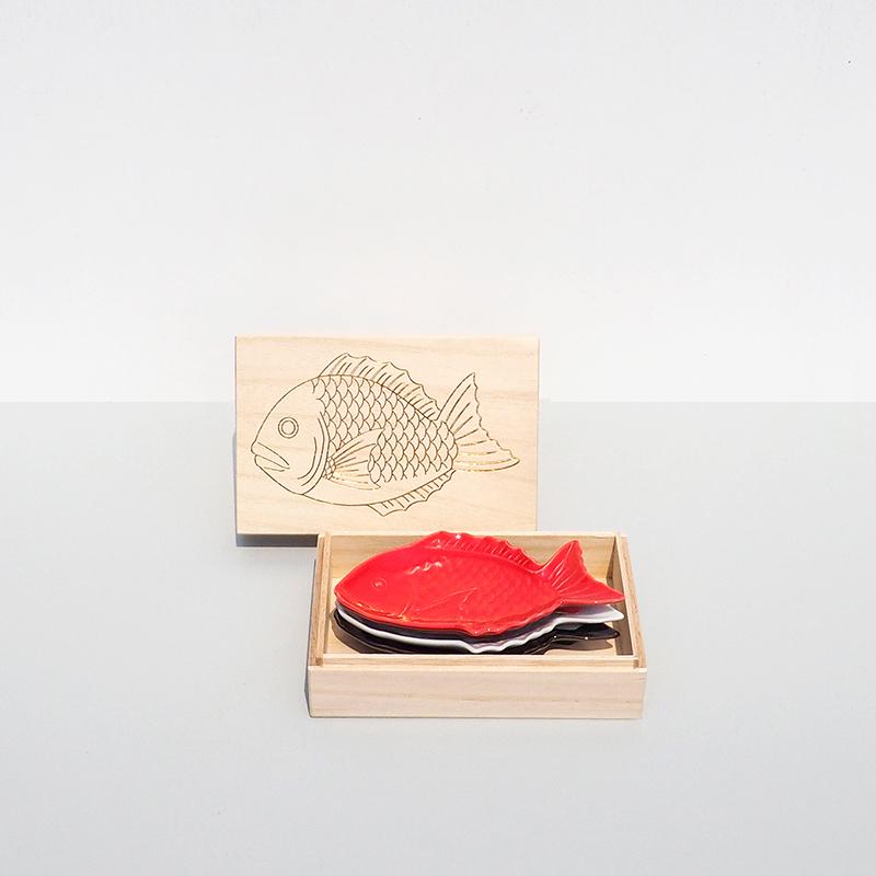 縁起物 祝い鯛小皿(1〜3枚) & ギフトボックスセット