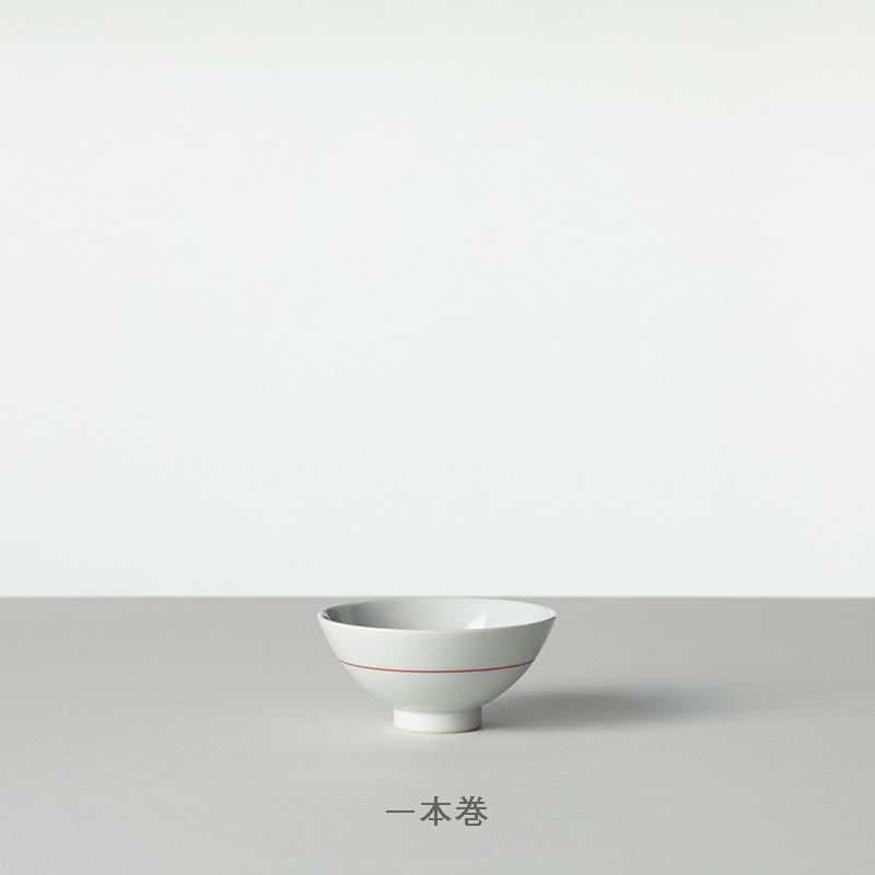 朱巻 茶碗 小
