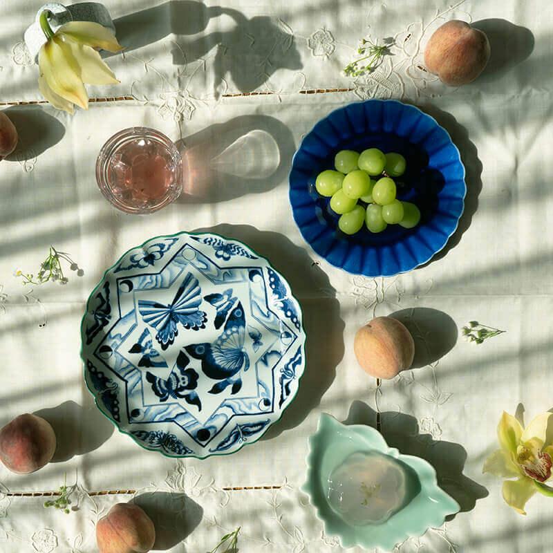 空中庭園 青い花