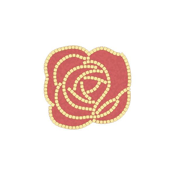 キュアガーデン イングリッシュローズテラス(ベージュ) TIタイプ-マサファルト仕上げ・3cm高さ(イメージ画はベージュ+赤土)