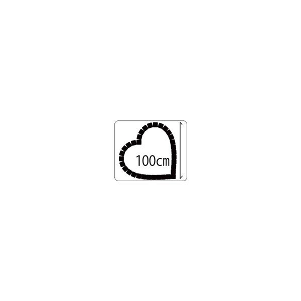 キュアガーデン ハート(ベージュ)TH1000−マサファルト仕上げ100cmサイズ・3cm高さ(イメージ画はベージュ+赤土)