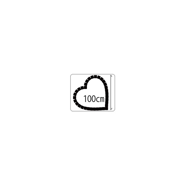 キュアガーデン ハートTH1000−マサファルト仕上げ100cmサイズ・3cm高さ(イメージ画はレッド+真砂土)