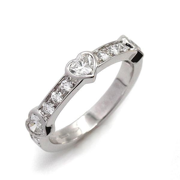 ブルガリ BVLGARI クオーレ リング K18WG ダイヤモンド#12 ハート