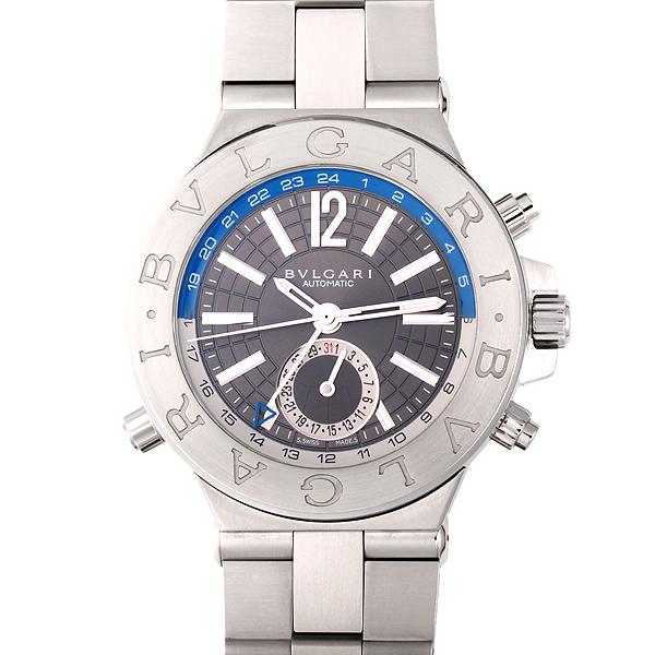 ブルガリ BVLGARI ディアゴノ GMT グレー文字盤 メンズ腕時計 DG40SGMT 自動巻