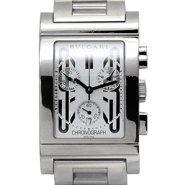 ブルガリ BVLGARI レッタンゴロ クロノグラフ RTC49S メンズ腕時計 クオーツ 保証書 箱
