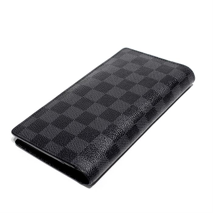 ルイヴィトン LOUIS VUITTON ダミエ グラフィット ポルトフォイユ ブラザ N62665 メンズ 二つ折り長財布