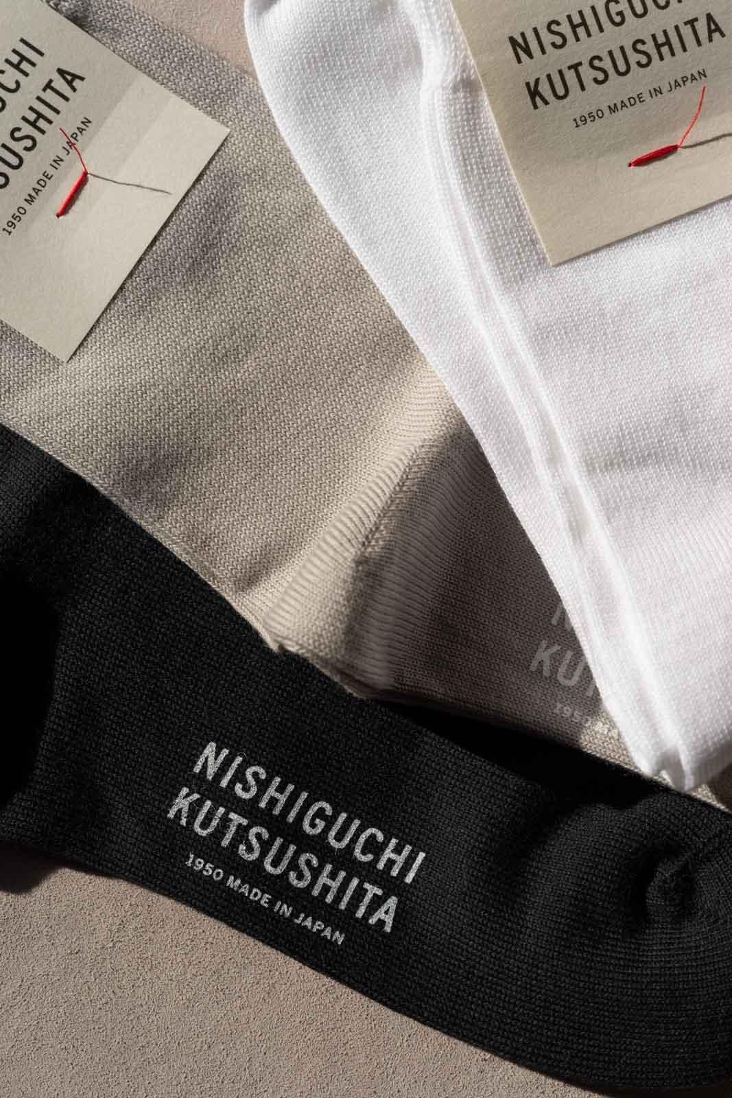NISHIGUCHI KUTSUSHITA/エジプトコットンプレーンソックス