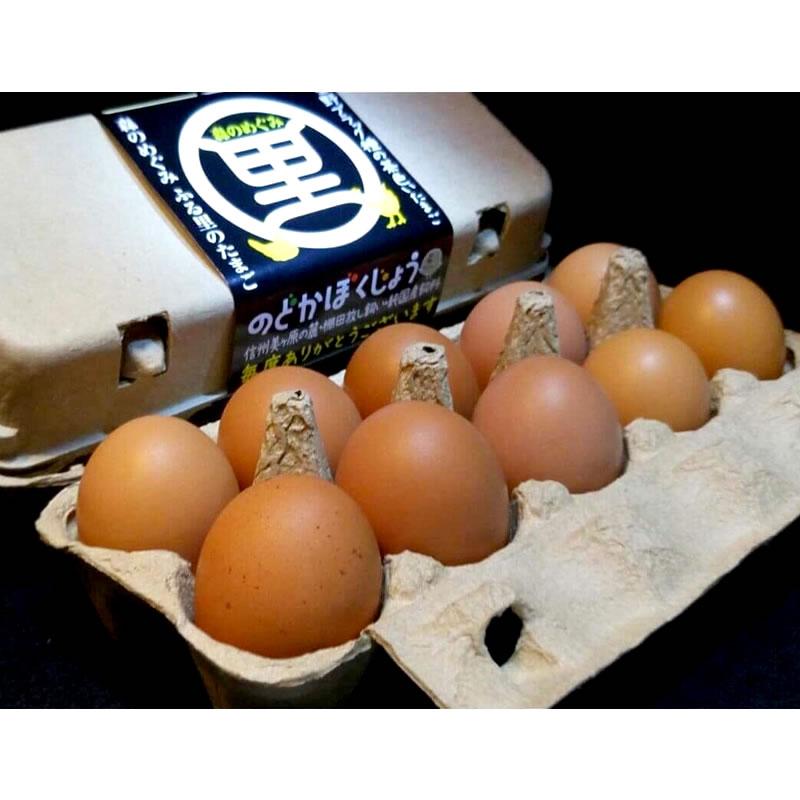 【のどか牧場】 朝採り ふる里の卵 20個入り