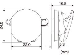回転クリッキー レバー部プラスチックタイプ KP-2 500個入り