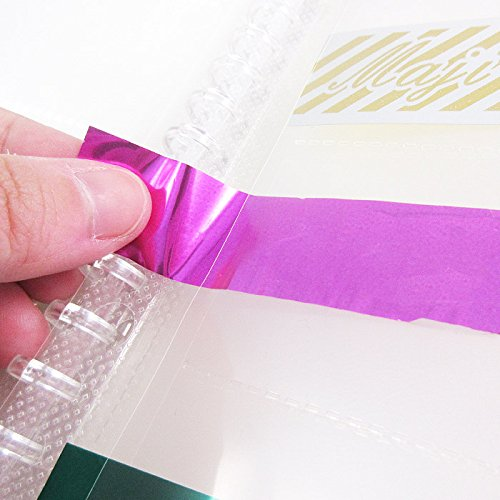 【B5/6P/交換リーフ】B5 銀テープ 交換リーフ リングバインダーファイル 透明6ポケット26穴10枚入り