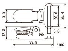 キーパークリップ M-20 黒・透明 1,000個入り