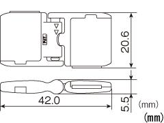 危険防止パーツ 平紐用 NPS-15F 250個入り