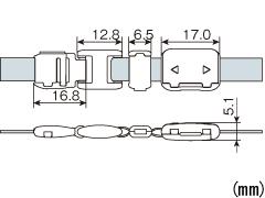 危険防止パーツ 平紐用 NPS-8FA・10FA・15FA