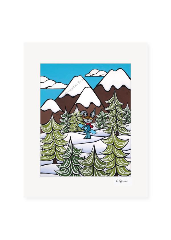 Snow Bunny <br>【オープンエディションマットプリント】