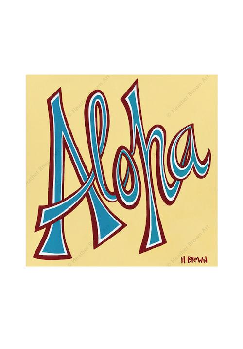 Aloha<br>【オープンエディション ジクレーキャンバスプリント】