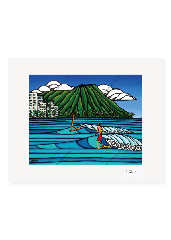Waikiki Logging <br>【オープンエディションマットプリント】