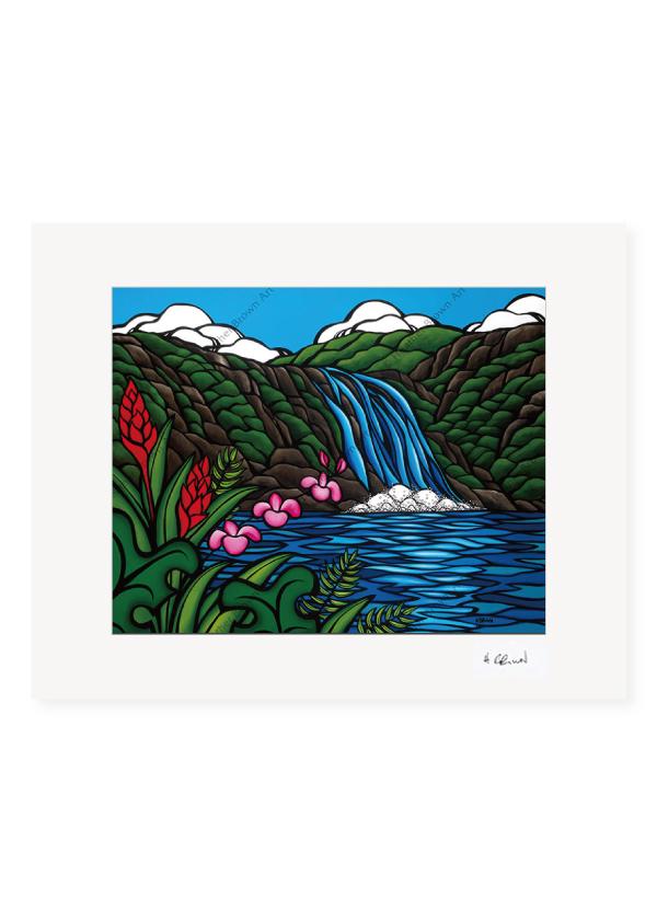 Waimea Falls <br>【オープンエディションマットプリント】