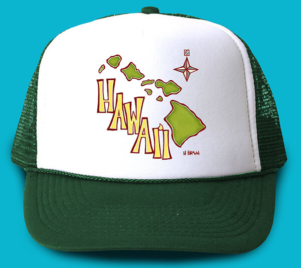 Island Map Trucker Hat <br>【キャップ】