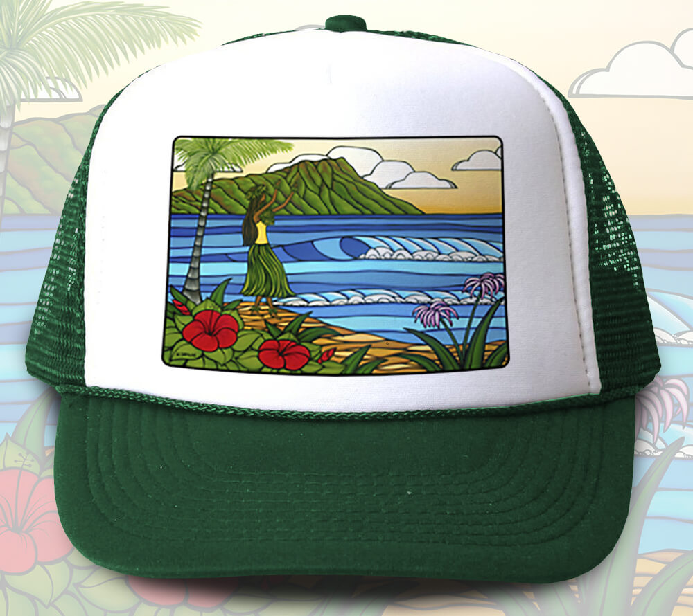Hula Girl Trucker Hat <br>【キャップ】