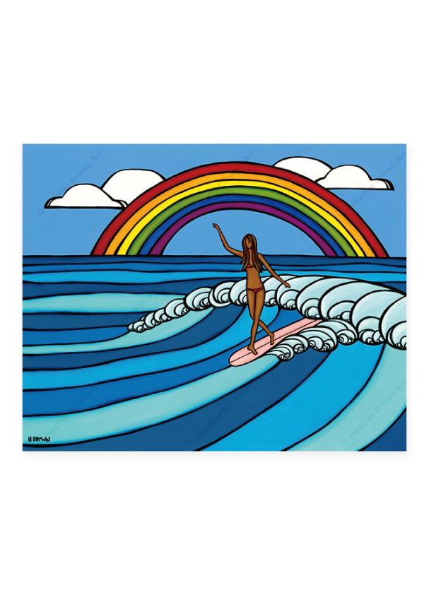 Rainbow Surf <br>【オープンエディションマットプリント】