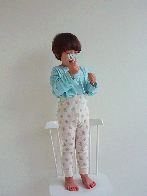 LEGGINGS with cotton candy baby bear