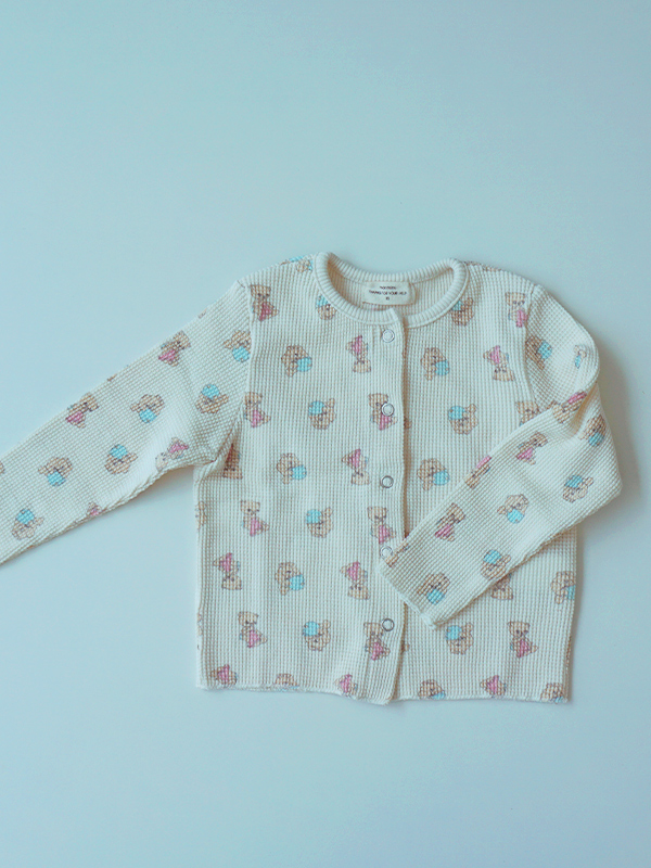 CARDIGAN with cotton candy baby bear