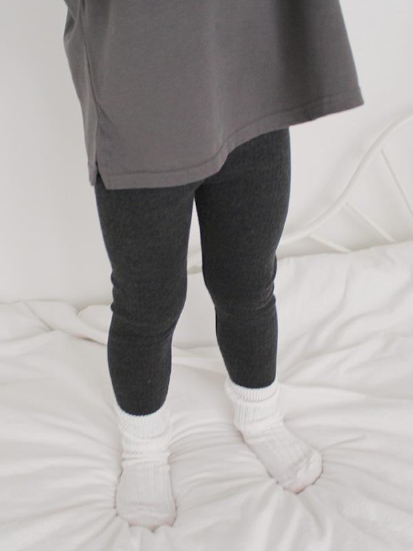 FLAT RIB leggings