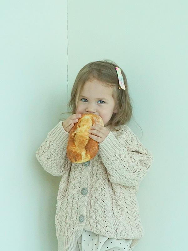 golden syrup aran knit cardigan