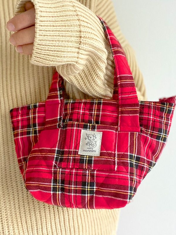 tartan check bag for your something