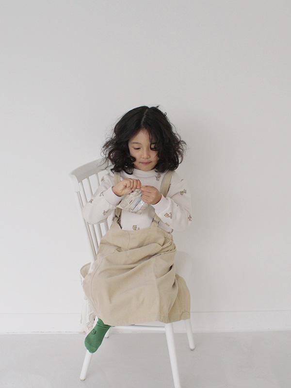 slow tempo corduroy  skirt