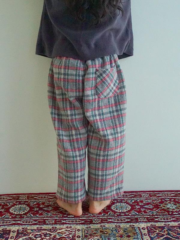 Brushed check pants