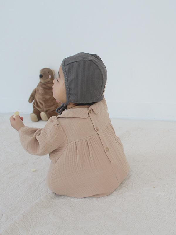 collar baby suits MILKTEA GAUZE