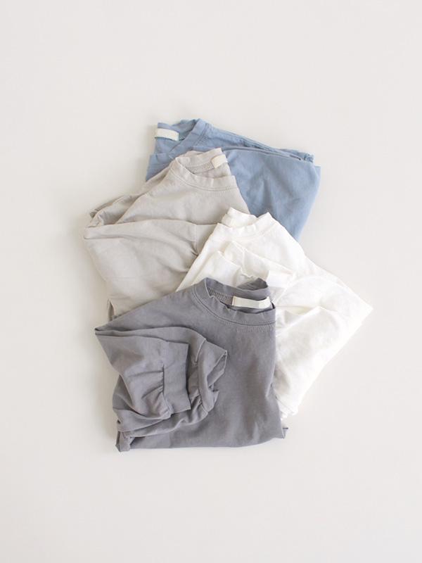 夏のロングTシャツ(no need softener for summer)