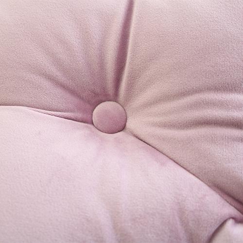 【11月中旬再入荷予定】ビックベロアラウンドクッション ピンク