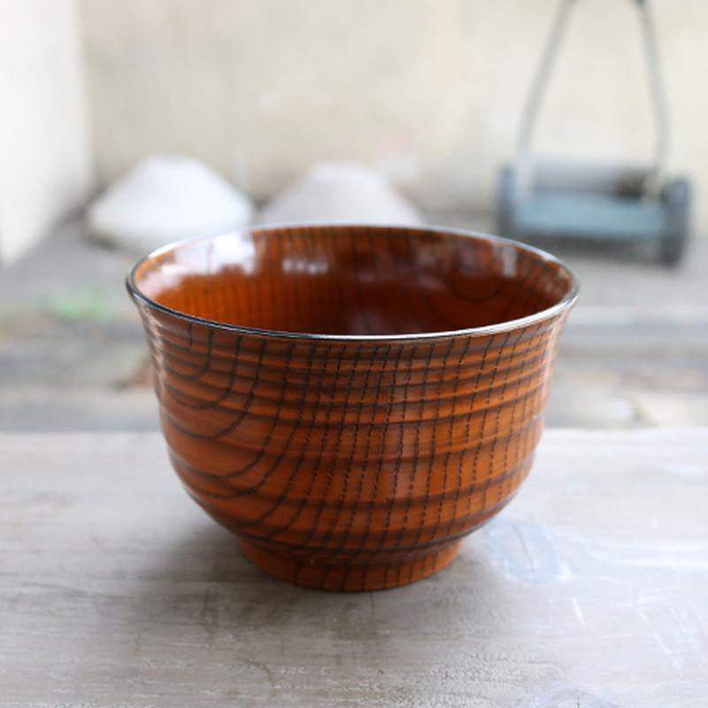 レンジ千段欅杢目汁椀 栃塗