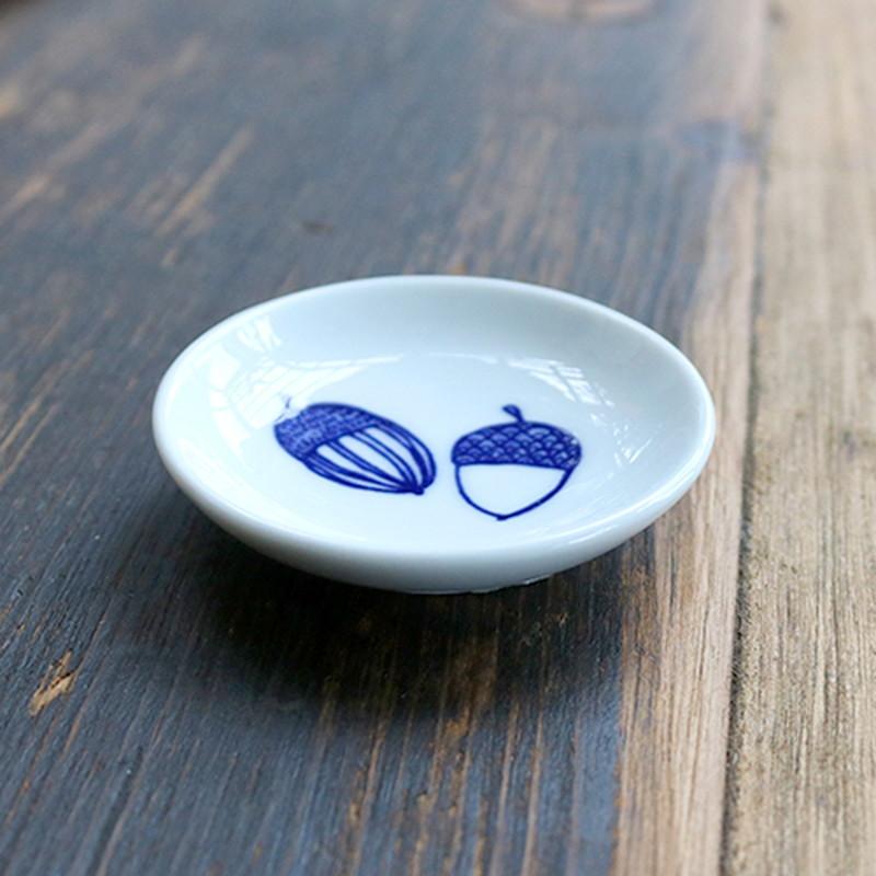 ドングリ トリ豆皿 4Pセット(木箱入り)