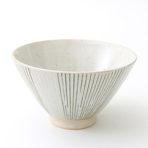 千彫十草 茶碗